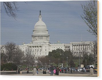 Washington Dc - Us Capitol - 01135 Wood Print by DC Photographer