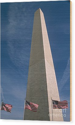 Washington Dc Washington Monument  Wood Print by Anonymous
