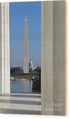 Washington Landmarks Wood Print by Olivier Le Queinec