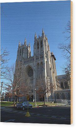 Washington National Cathedral - Washington Dc - 0113115 Wood Print by DC Photographer