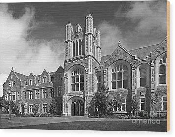 Washington University Anheuser- Busch Hall Wood Print by University Icons