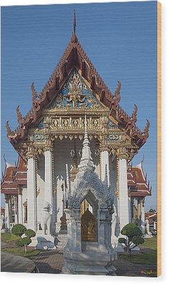 Wat Amarintaram Ubosot Dthb1507 Wood Print by Gerry Gantt
