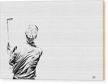 Watching And Hoping Wood Print by Karol Livote