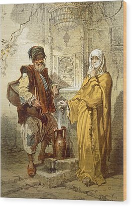 Water-carrier, 1865 Wood Print by Amadeo Preziosi