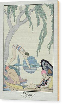 Water Wood Print by Georges Barbier