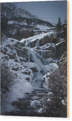 Waterfall Frozen In Time Wood Print by Michael Bauer