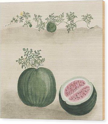 Watermelon Wood Print by Aged Pixel