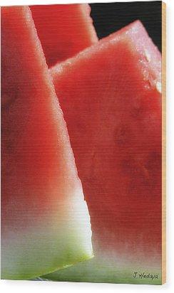 Watermelon Heaven Wood Print by Joseph Hedaya