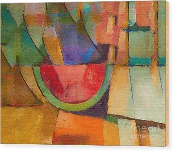 Watermelon Wood Print by Lutz Baar