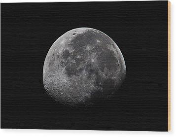 Waxing Moon Wood Print by Nila Newsom