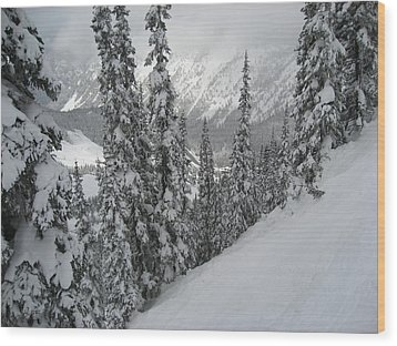 Way Up On The Mountain Wood Print by Kym Backland
