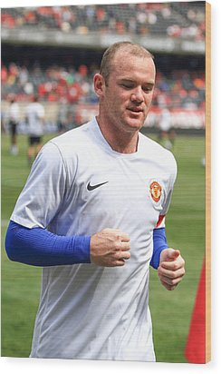 Wayne Rooney 5 Wood Print by Keith R Crowley