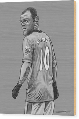 Wayne Rooney Wood Print by Sri Priyatham