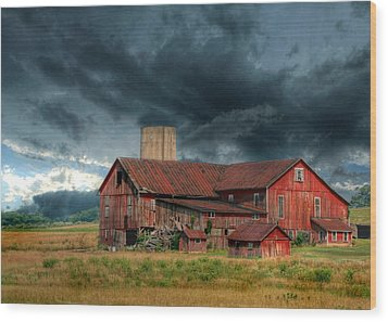 Weathering The Storm Wood Print by Lori Deiter