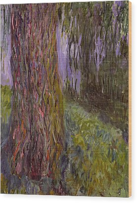 Weeping Willow And The Waterlily Pond Wood Print by Claude Monet