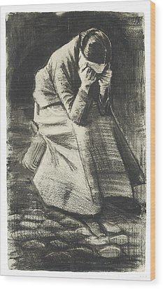 Weeping Woman Wood Print by Vincent van Gogh