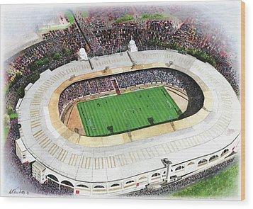 Wembley Stadium Wood Print by Kevin Fletcher