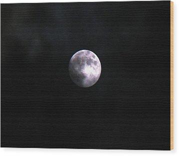 Werewolves By Night Wood Print by LJAS Cunnea