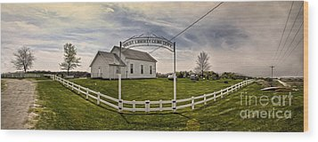 West Liberty Cemetery Wood Print by Gregory Dyer