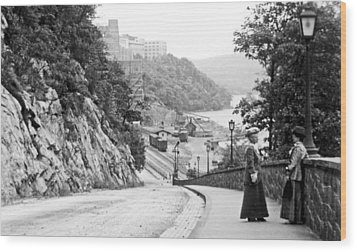 Wood Print featuring the photograph West Point New York 1914 Vintage Photograph by A Gurmankin
