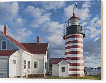 West Quoddy Head Lighthouse Wood Print by John Greim