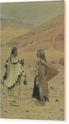West Tibetans, 1875 Oil On Canvas Wood Print by Piotr Petrovitch Weretshchagin