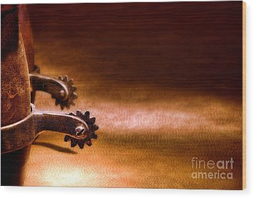 Western Spurs Wood Print by Olivier Le Queinec
