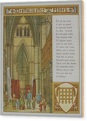 Westminster Abbey Wood Print by British Library