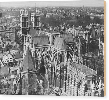 Westminster Abbey In London Wood Print by Underwood Archives