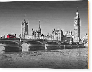 Westminster Bridge Wood Print by Melanie Viola