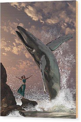 Whale Watcher Wood Print by Daniel Eskridge