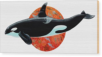 Whale Watching Wood Print by David  Chapple