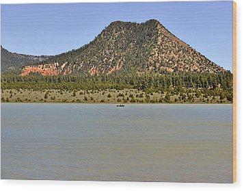 Wheatfields Lake - Chuska Mountains Wood Print by Christine Till