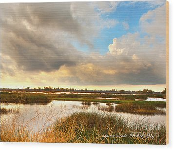 When The Rain Stopped Over Gray Lodge Wood Print by Artist and Photographer Laura Wrede