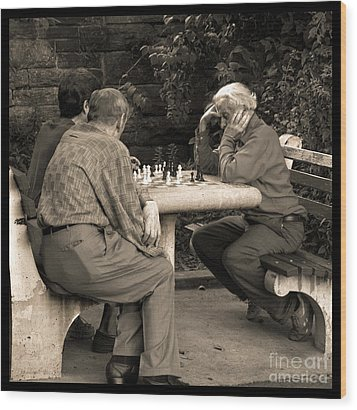 Where Is Bobby Fischer Wood Print by Madeline Ellis
