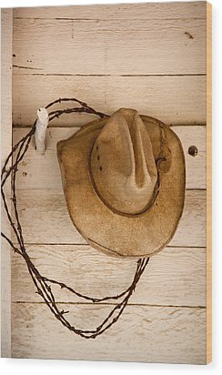 Wherever I Lay My Hat Wood Print by Peter Tellone