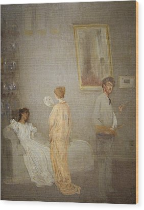 Whistler In His Studio Wood Print by James Abbott McNeil Whistler