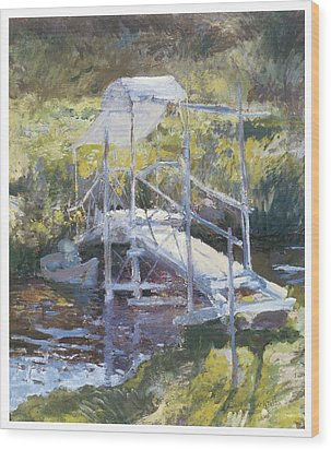 White Bridge Wood Print by John Twachtman