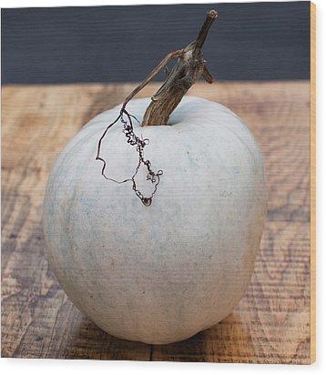 White Pumpkin Wood Print by Indigo Schneider