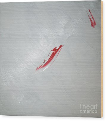 White Sea Red Whale 2 Wood Print by Richard W Linford