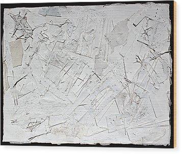 White Web Collage 6 Wood Print by Hari Thomas