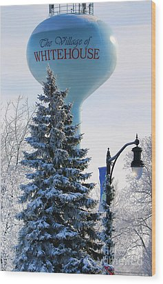 Whitehouse Water Tower  7361 Wood Print by Jack Schultz