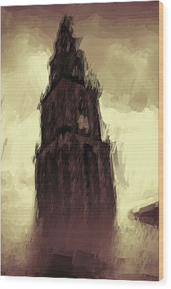 Wicked Tower Wood Print by Ayse Deniz