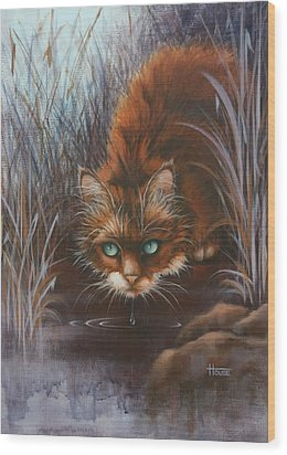 Wild At Heart Wood Print by Cynthia House