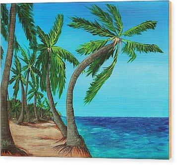 Wild Beach Wood Print by Anastasiya Malakhova