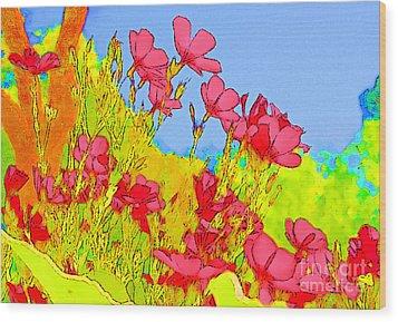 Wild Flowers In Bloom Wood Print by Julie Lueders