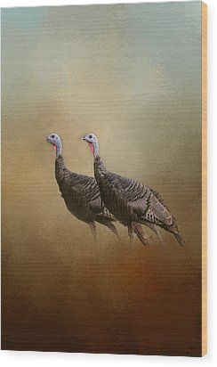 Wild Turkey At Shiloh Wood Print by Jai Johnson