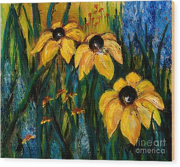 Wildflowers Wood Print by Larry Martin