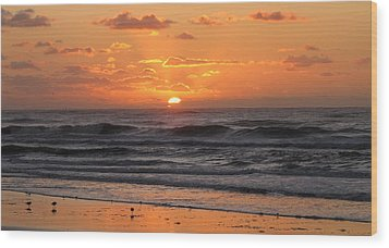 Wildwood Beach Here Comes The Sun Wood Print by David Dehner