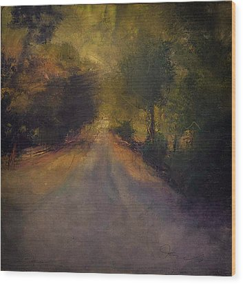 Wilsonville Road Wood Print by W i L L Alexander